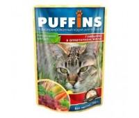 Puffins говядина в желе 100 г (фольга)