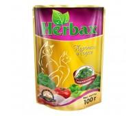 Herbax для кошек соус Курочка с Морской капустой 100г