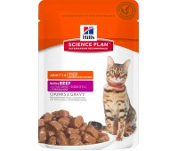 HILL'S Science Plan с говядиной для кошек пауч 85г