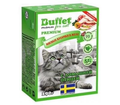 Купить BUFFET консервы для кошек 190г домашняя птица в желе
