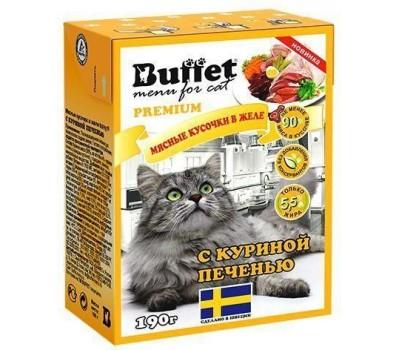 Купить BUFFET консервы для кошек 190г куринная печень в желе