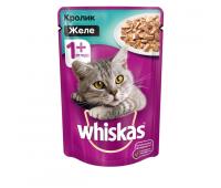 Whiskas для взрослых кошек желе с говядиной и ягнёнком