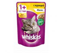 Whiskas для взрослых кошек паштет с уткой
