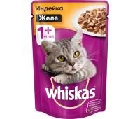 Whiskas для взрослых кошек паштет из курицы с индейкой