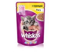 Whiskas для взрослых кошек рагу с курицей