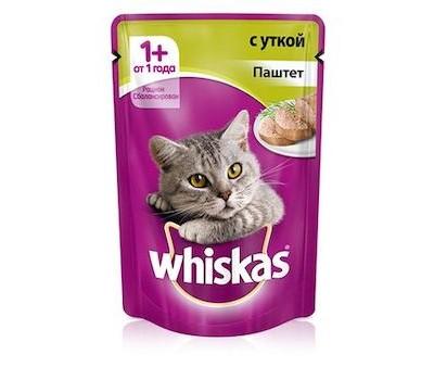 Купить Whiskas для взрослых кошек рагу с форелью
