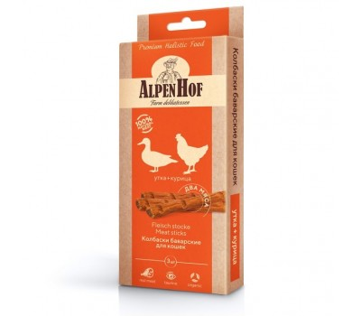 Купить AlpenHof Колбаски баварские утка+курица для кошек 3 шт