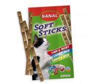 Палочки жевательные для кошек Sanal 3шт Ягненок и Рис Lamb/Rice