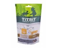 TiTBiT Хрустящие Подушечки для кошек с лососем для здоровья шерсти 60г