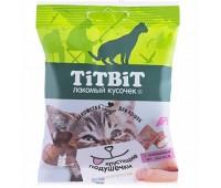 TiTBiT Хрустящие подушечки для кошек с паштетом из лосося 30г