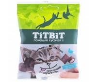 TiTBiT Хрустящие подушечки для кошек с паштетом из утки 30г