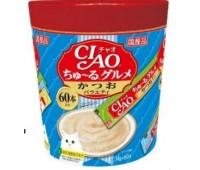 CIAO/ЧАО Лакомство для кошек соус ассорти из морских деликатесов 60стиков*14г