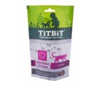 TiTBiT Хрустящие Подушечки для кошек с мясом индейки для здоровья сердца 60г