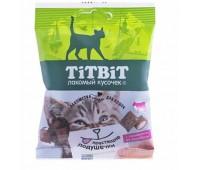 TiTBiT Хрустящие подушечки для кошек с паштетом из говядины 30г