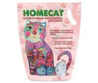 HOMECAT наполнитель силикагель 3,8л с ароматом розы