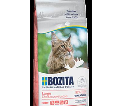 Купить BOZITA WF Hair & Skin SALMON Large с лососем без пшеницы для кошек крупных пород 400г