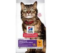 HILL'S SP Sensitive Stomach & Skin с курицей чувствит. кожа и пищеварение у кошек
