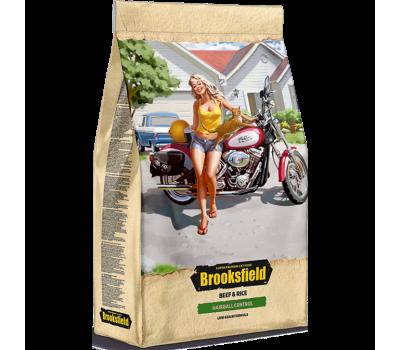 Купить brooksfield hairball contril для кошек, говядина и рис