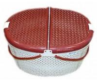 Переноска пластиковая (корзина) 26*26см Средняя Овальная для кошек и собак DOGMAN