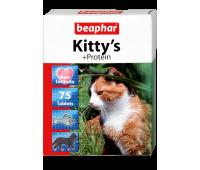 Beaphar Kitty's 75таб витамины с протеином для кошек