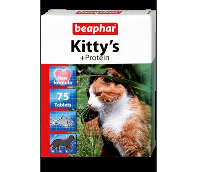 Купить Beaphar Kitty's 75таб витамины с протеином для кошек
