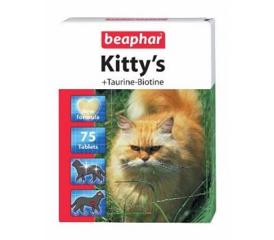 Купить Beaphar Kitty's 75таб витамины с таурином,биотином для кошек