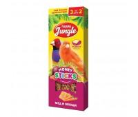 Happy Jungle Колба для мелких птиц Мёд и Овощи 3палочки 90г