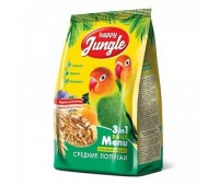 Happy Jungle 500г корм для средних попугаев