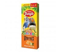 Happy Jungle Колба для птиц Мёд и Фрукты 3палочки 90г