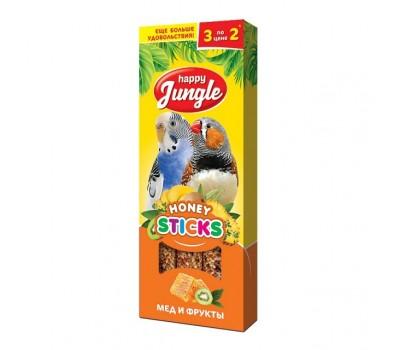Купить Happy Jungle Колба для птиц Мёд и Фрукты 3палочки 90г
