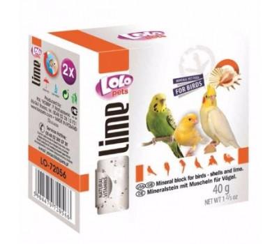 Купить Lolo мел для птиц с ракушками 40г