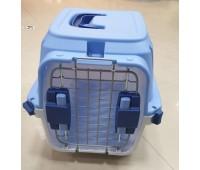 Переноска ЗК пластик 46*30,5*29.2см металл дверь с замком для кошек и собак