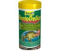 Tetra корм ReptoDelica Grasshopers 250мл - кузнечики - лакомство для водных черепах
