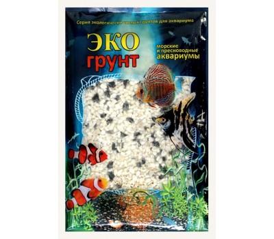 Купить Грунт Медоса 7кг 2-5мм Мраморная Крошка чёрно-белый
