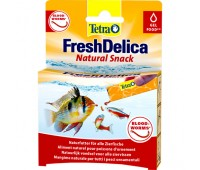 Tetra корм FreshDelica Bloodworms 48г желе красного червя