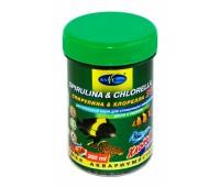 BIOdesign Спирулина & хлорелла (хлопья) 25% 200мл