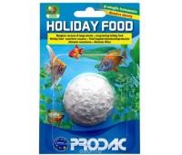 PRODAC HOLIDAY FOOD корм блоком для рыб 1шт 20г