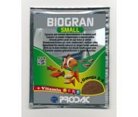 PRODAC BIOGRAN SMALL гранулы 15г пакет для мелких рыб
