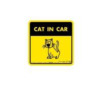 "Collar Наклейка 3732 ""Cat in car"""
