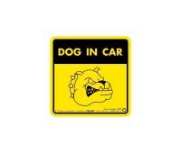 "Collar Наклейка 3727 ""Dog in car"""