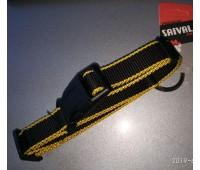 Ошейник Saival Premium Цветной Край 25мм 45-60см нейлон  Желтый край