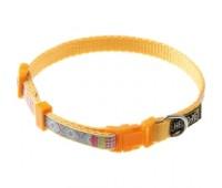 Ошейник 10мм 25-35см узор (нейлон) для собак  Желтый