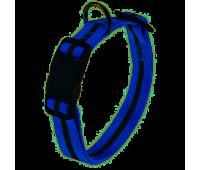 Ошейник Ferplast Club Reflex 20мм 36-56см Светоотраж.Синий с Магнитным Замком