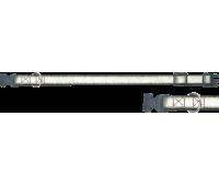 (0664) Before Ошейник 25мм Светоотражающий 35-52см +пластиковая застежка  Красный