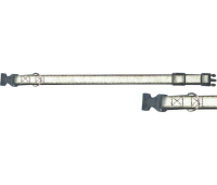 (0664) Before Ошейник 25мм Светоотражающий 35-52см +пластиковая застежка  Зеленый
