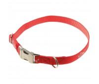 VIPet 20мм 35-56см ошейник нейлон для собак  Красный
