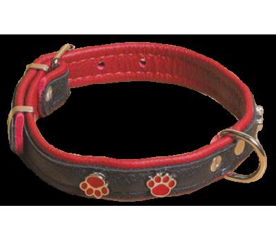 Купить (1402) Before Ошейник Люкс 20мм с украш Лапка  Красный