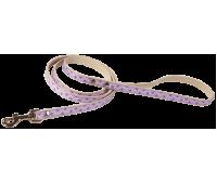 (0021) Before Поводок ровный 10мм с рисунком сердца  Фиолетовый