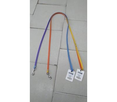 Купить (8820) Before Поводок Elit двухцветный 10мм 122см  голубо-фиолетовый