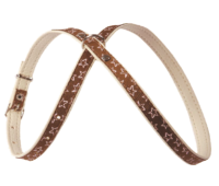 (0042) Before Шлея мелкие породы с рисунком звезда  Коричневый